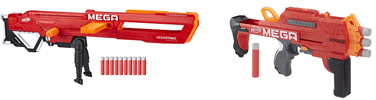 Nerf MEGA Thunderhawk Blaster + Nerf MEGA Bulldog Blaster ab 39€ (statt 48€)