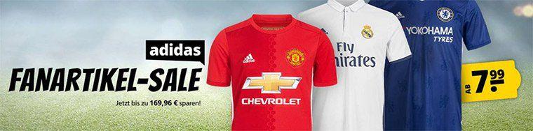 adidas Fanartikel Sale bei Sportspar   z.B. Real Madrid Trikot für 24,99€ (statt 90€)