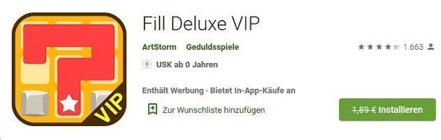 Android: Fill Deluxe VIP kostenlos (statt 1,89€)
