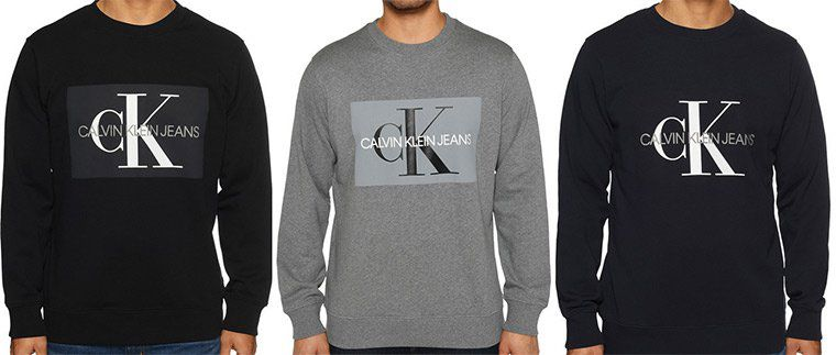 Calvin Klein Sweatshirt Core Monogram Logo in 3 Farben für je 49,90€ (statt 83€)