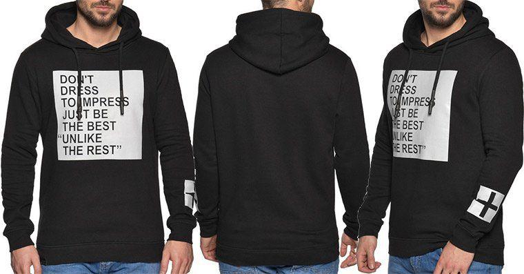 Key Largo Hoodie Impress in Schwarz für 25,90€ (statt 40€)