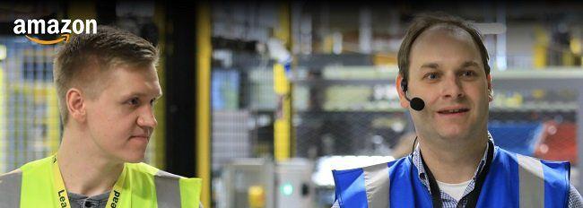Kostenlose Führung durch ein Amazon Logistikzentrum