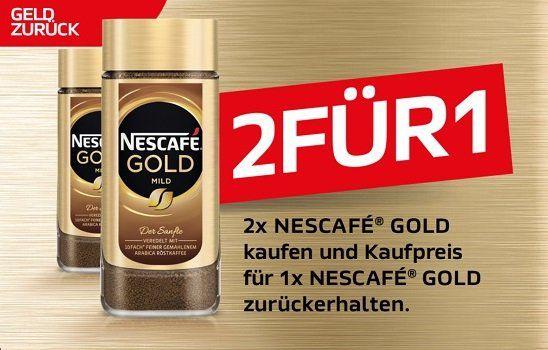 Zwei mal NESCAFÉ® GOLD für den Preis von Einem