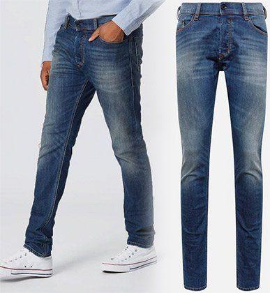 Diesel Jeans Tepphar in Blue denim für 55,80€ (statt 126€)
