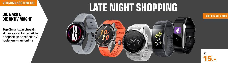 Saturn Wearables Late Night: günstige Sporttracker   z.B. FITBIT Ionic Fitness Smartwatch für 199€ (statt 223€)