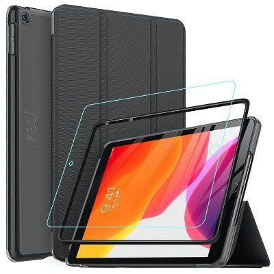 IVSO Hülle fürs iPad 10.2 2019 inkl. Displayschutz mit Standfunktion für 5,95€ (statt 10€)   Prime