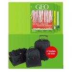 Mini-Abo GEO mit 3 Ausgaben für 15,90€ + 3teiliges Reisetaschen-Set für 1€