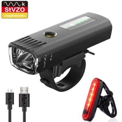 Pezimu LED Fahrradlicht Set mit Tagfahrlicht & Helligkeitserkennung für 9,97€ (statt 20€)