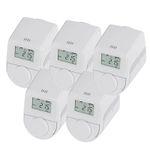 Ausverkauft! 5er-Set eqiva Model Q Heizkörperthermostate für 19,89€ (statt 47€)