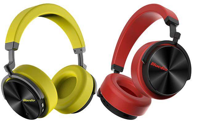 Bluedio T5   BT 4.2 Active Noise Cancelling OverEar Kopfhörer in Rot oder Gelb für 21,99€ (statt 30€)