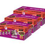 Whiskas Mega Pack Katzenfutter 4 Sorten (120 x 100g) für 29,99€ (statt 40€)