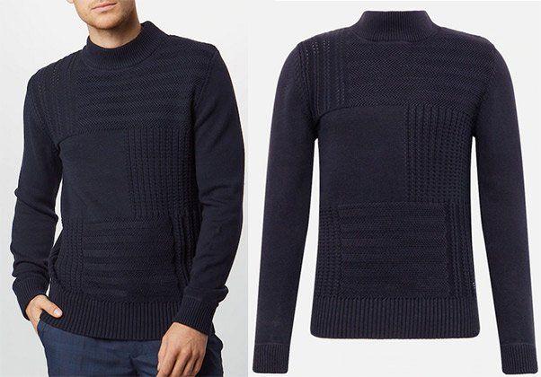 Jack & Jones Baumwoll Pullover in dunkelblau für 19,04€ (statt 45€)