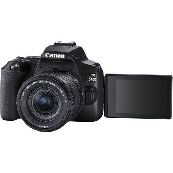 Canon EOS 250D Spiegelreflexkamera mit 24.1 MP WLAN und 18-55mm Objektiv ab 538,99€ (statt 579€)