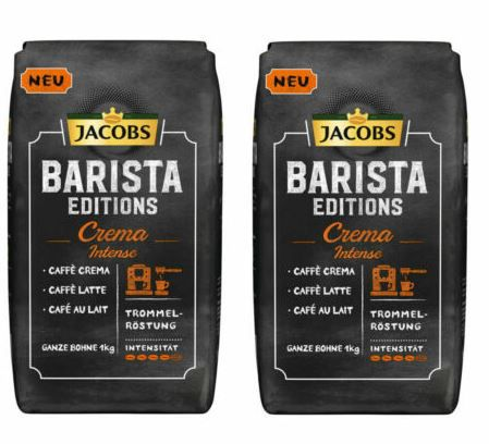 JACOBS Barista Editions Crema Intense 2kg ganze Bohnen für 18,90€ (statt 27€)