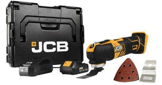 JCB Akku Multifunktionswerkzeug 18V inkl. 1x 2,0 Ah Akku Ladegerät und L BOXX für nur 99,95€ (statt 130€)