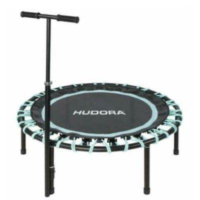 Hudora Trampolin Sky 110cm für Jumping und Fitness in Schwarz Türkis für 99€ (statt 127€)