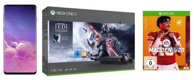 Knaller! 🔥 Galaxy S10 + Xbox One X Star Wars + NFL 20 nur 1€ + Vodafone Flat 6GB LTE für 26,99€mtl.