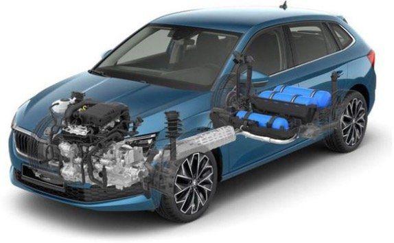 Skoda Scala Drive 125 TGI Erdgas mit 90PS im Leasing für 149€ mtl.   LF 0.78