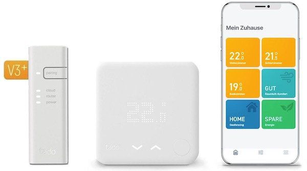 tado Smart Thermostat Starter Kit V3+ für 109,99€ (statt 155€)