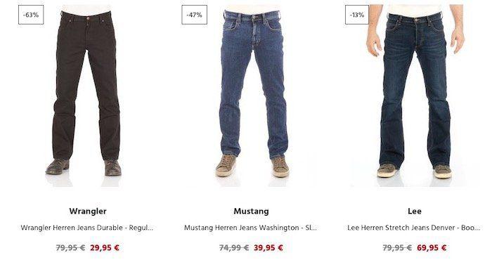 20% Rabatt auf Jeans & Hosen bei Jeans Direct (ab 40€)   2er Pack Wrangler Jeans ab 47,98€ (statt 72€)