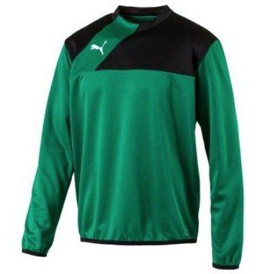 Puma Esquadra Herren Trainings Sweatshirt in Grün in S oder M für 9,99€ (statt 15€)