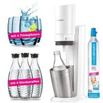 SodaStream Crystal 2.0 in Weiss inkl. 4 Glaskaraffen & 4 Design Trinkgläser für 129,99€ (statt 150€)