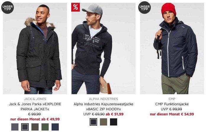 OTTO: Heute 10% auf alle Jacken auch im Sale   z.B. Jack&Jones Parka ab 30€ (statt 53€)