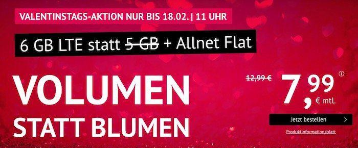 o2 Allnet Flat mit 6GB LTE für 7,99€ mtl. + monatlich kündbar