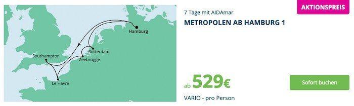 AIDA Pink Valentine mit Kreuzfahrten zum Valentinstag   z.B. Norwegen & Dänemark ab 449€ p.p.