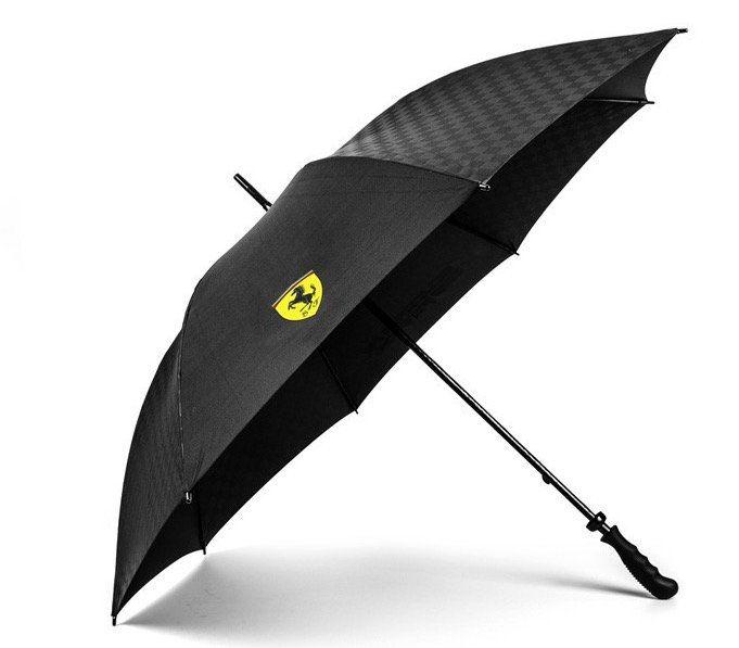 Ferrari Regenschirm Carbon mit Etui für 27,24€ (statt 35€)