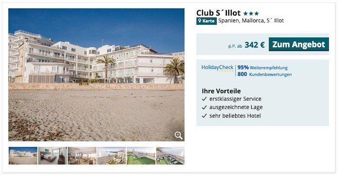 Pauschalreisen in Osterferien mit 50€ Rabatt   z.B. Hotel auf Mallorca (95%) inkl. Flüge, Transfer und HP ab 317€ p.P.
