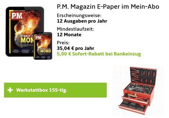 Mannesmann Werkzeugbox M29066 155 teilig für 30€ (statt 59€) dank P.M. e Paper Abo