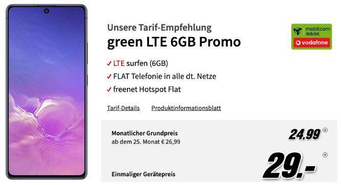 Samsung Galaxy S10 Lite für 29€ mit Vodafone Allnet Flat mit 6GB LTE50 für 24,99€ mtl.