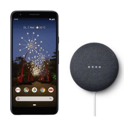 Google Pixel 3a 64GB + GOOGLE Nest Mini für 315€ (statt 348€)
