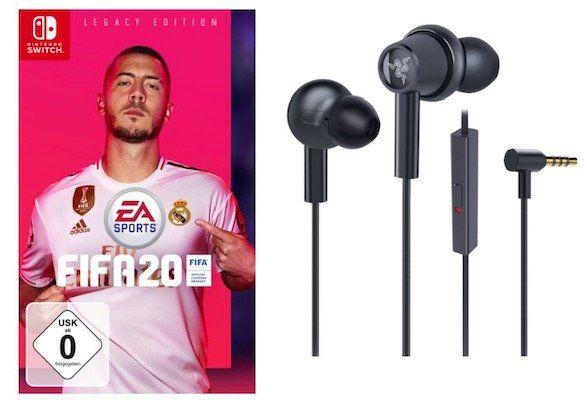 Hammerhead Duo Switch In Ear Kopfhörer + Fifa 20 Switch für 41,98€ (statt 75€)