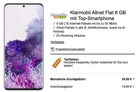 Vorbesteller: Samsung Galaxy S20 für 99€ oder S20+ für 199€ (inkl. gratis Buds) + Vodafone Flat mit 8GB LTE für 39,99€ mtl.