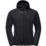 Ausverkauft! Jack Wolfskin Herren-Softshelljacke in Schwarz für 57€ (statt 77€) – nur XL