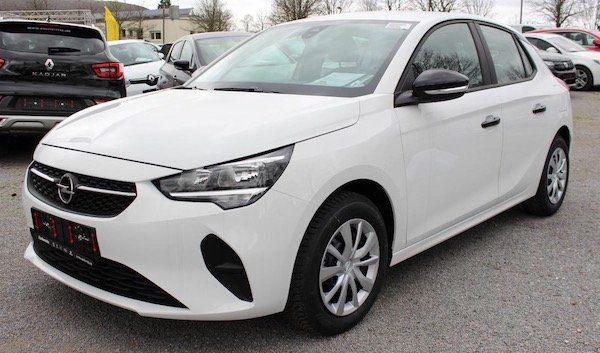 Opel Corsa F (Modell 2020) mit 75 PS im Leasing für 123,89€ mtl.   LF: 0.76