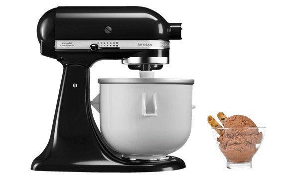 KitchenAid Eismaschine und Küchenmaschine in Onyx Schwarz mit 300Watt für 429€ (statt 586€)