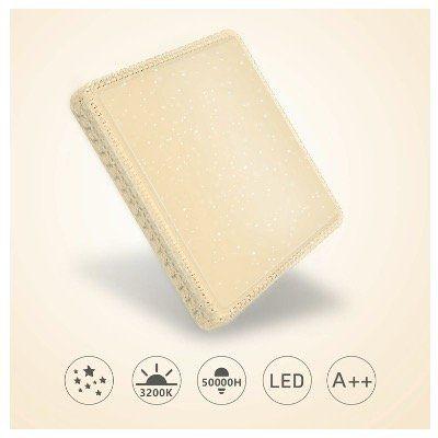 LED Deckenleuchte mit Starlight Effekt mit 60W 4800lm für 16,40€ (statt 41€)