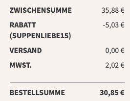 Little Lunch: 12x Vital Suppen für 30,85€inkl. Versand