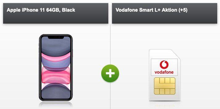 Apple iPhone 11 mit 64GB für 39€ inkl. Vodafone Allnet Flat mit 13GB LTE500 für 36,99€ mtl.