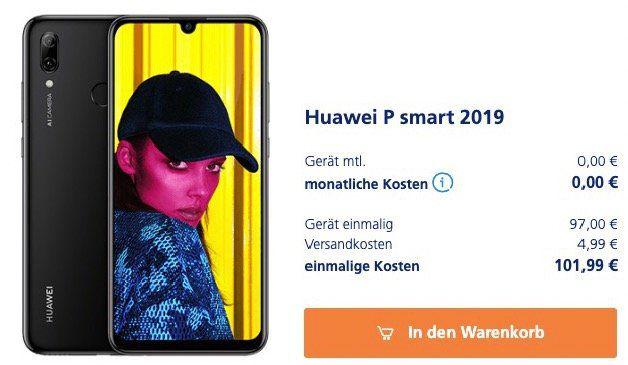 Huawei P smart 2019 Smartphone mit 64GB ab 97€ (statt 140€)