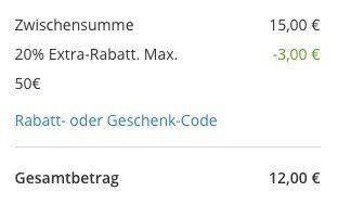 Rewe Wertgutscheine: 40€ für 16€ (100€ MBW) oder 30€ für 12€ (75€ MBW)