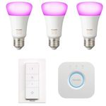 3er Pack Philips Hue White & Color Ambiance E27 Bluetooth Lampen + Dimmschalter + Bridge für 114,95€ (statt 149€)