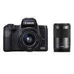 CANON EOS M50 Systemkamera 24.1 MP als Kit mit 15-45mm und 55-200mm für 699€ (statt 829€)