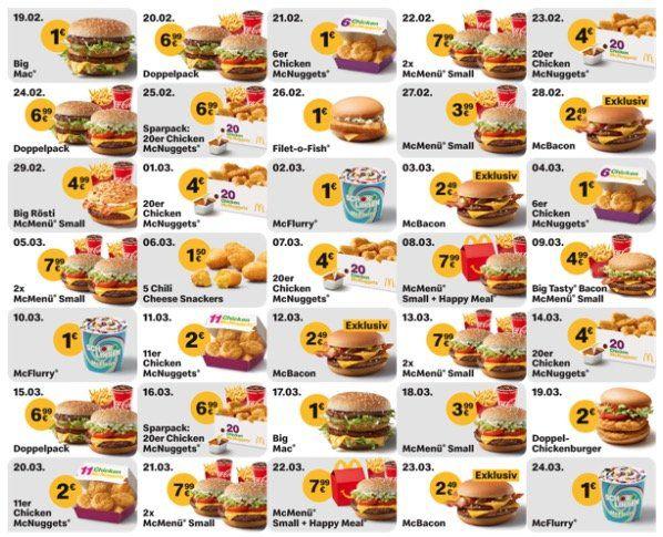 McDonald´s Ostercountdown 2020   z.B. heute: Doppelpack Menü für 6,99€
