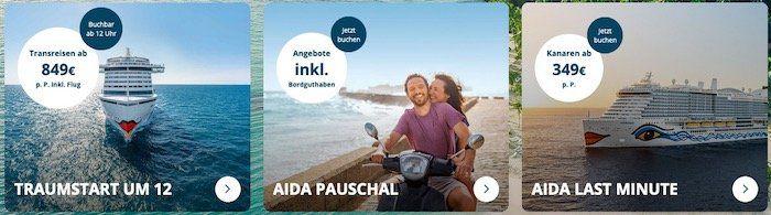 Neue AIDA Last Minute Kreuzfahrten Deals   z.B. 7 Tage Kanaren und Madeira ab 399€ p.P.