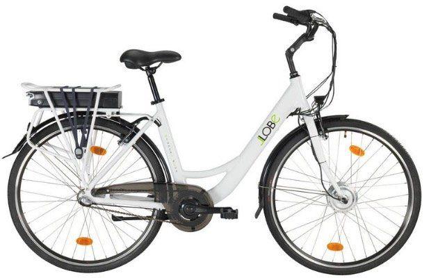 LLOBE City Damen E Bike Blanche Deux in 28 3G mit Gepäckträger für 679,99€ (statt 803€)
