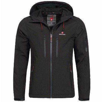 Höhenhorn Herren Outdoor Softshell Jacke Jorases in Schwarz für 39,99€ (statt 60€)